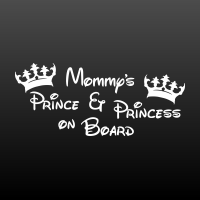 Mommy's Prince & Princess on board
