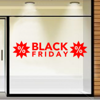 Black Friday met procent in ster