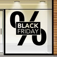 Black Friday in groot procentteken
