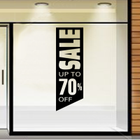 Sale up to 70% off in banner
