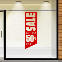 Sale up to 50% off in banner