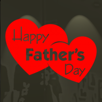 Happy Father's Day in 2 hartjes